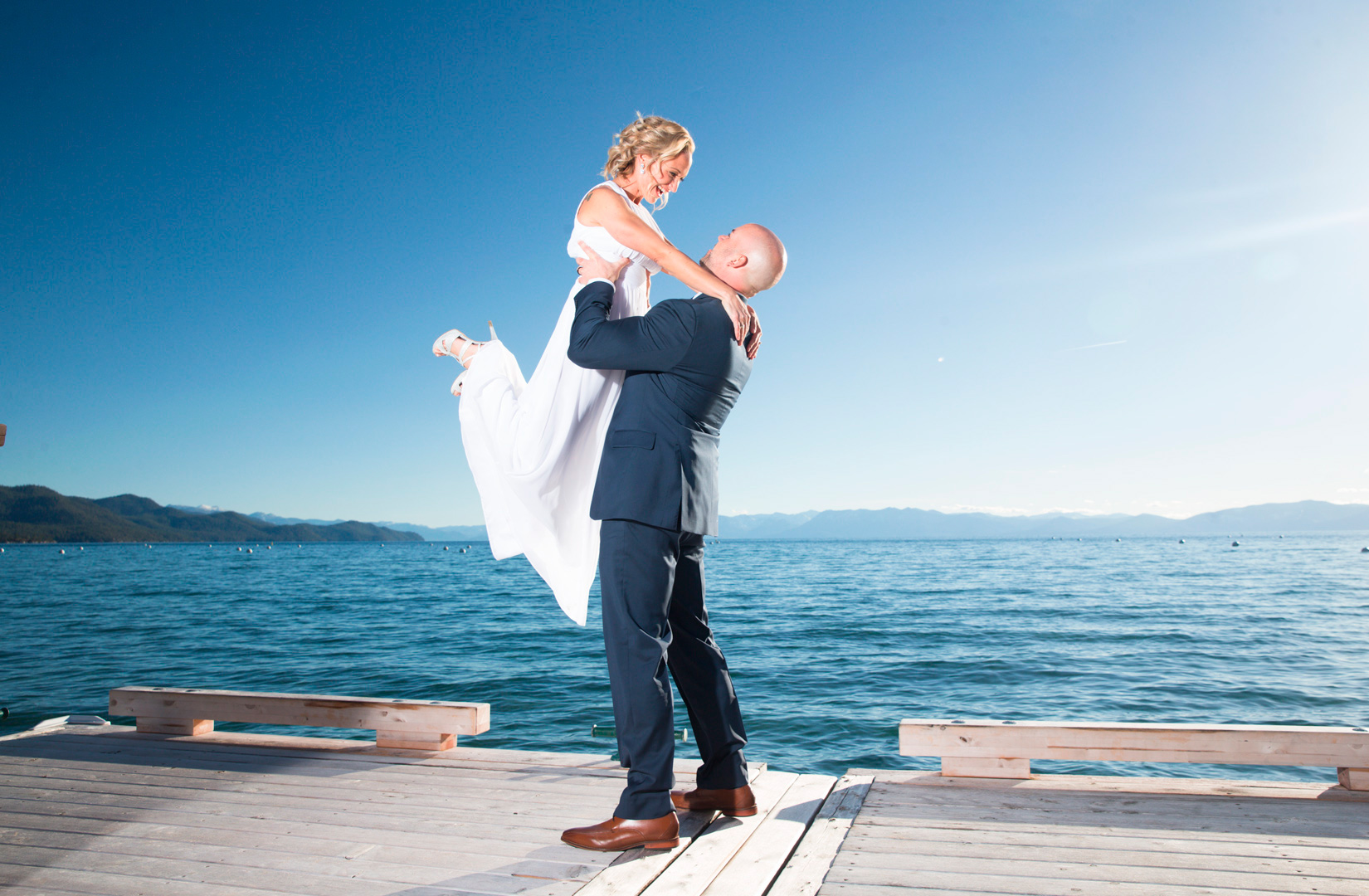 Tahoe-bride-on-Hyatt-pier