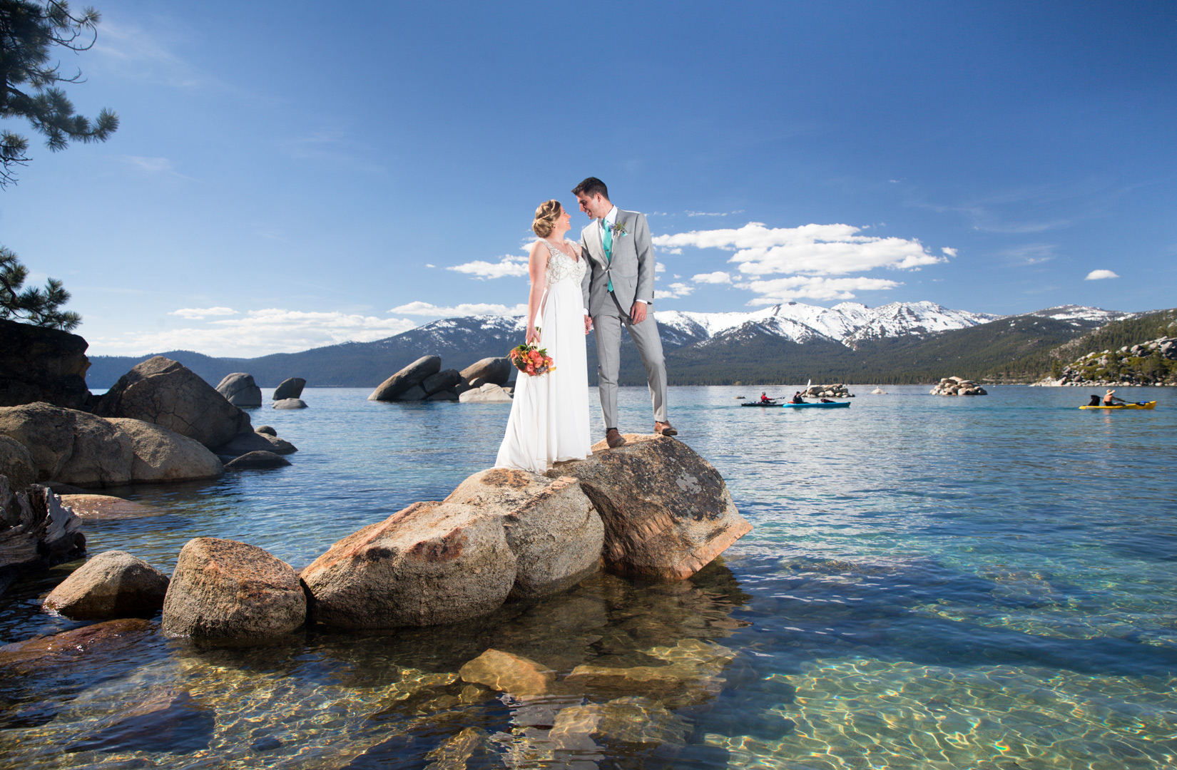 Tahoe-rocks-bride-and-groom-Incline-village