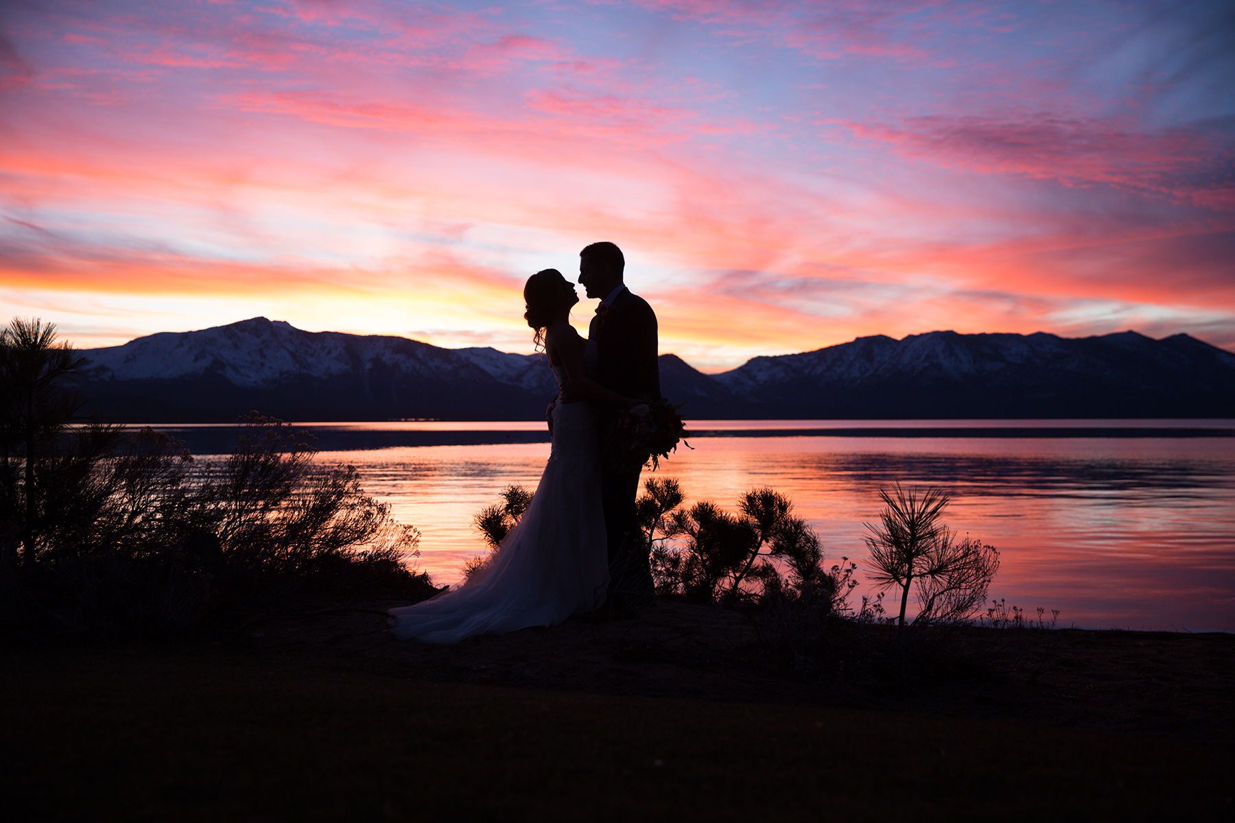 Late fall wedding at Edgewood Lake Tahoe.