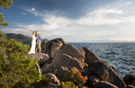 Tahoe-sunset-on-rocks-wedding