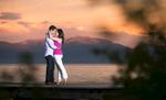 Tahoe-sunset-pier-couple