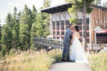 Wedding at Zephyr Lodge at the top of Northstar resort.