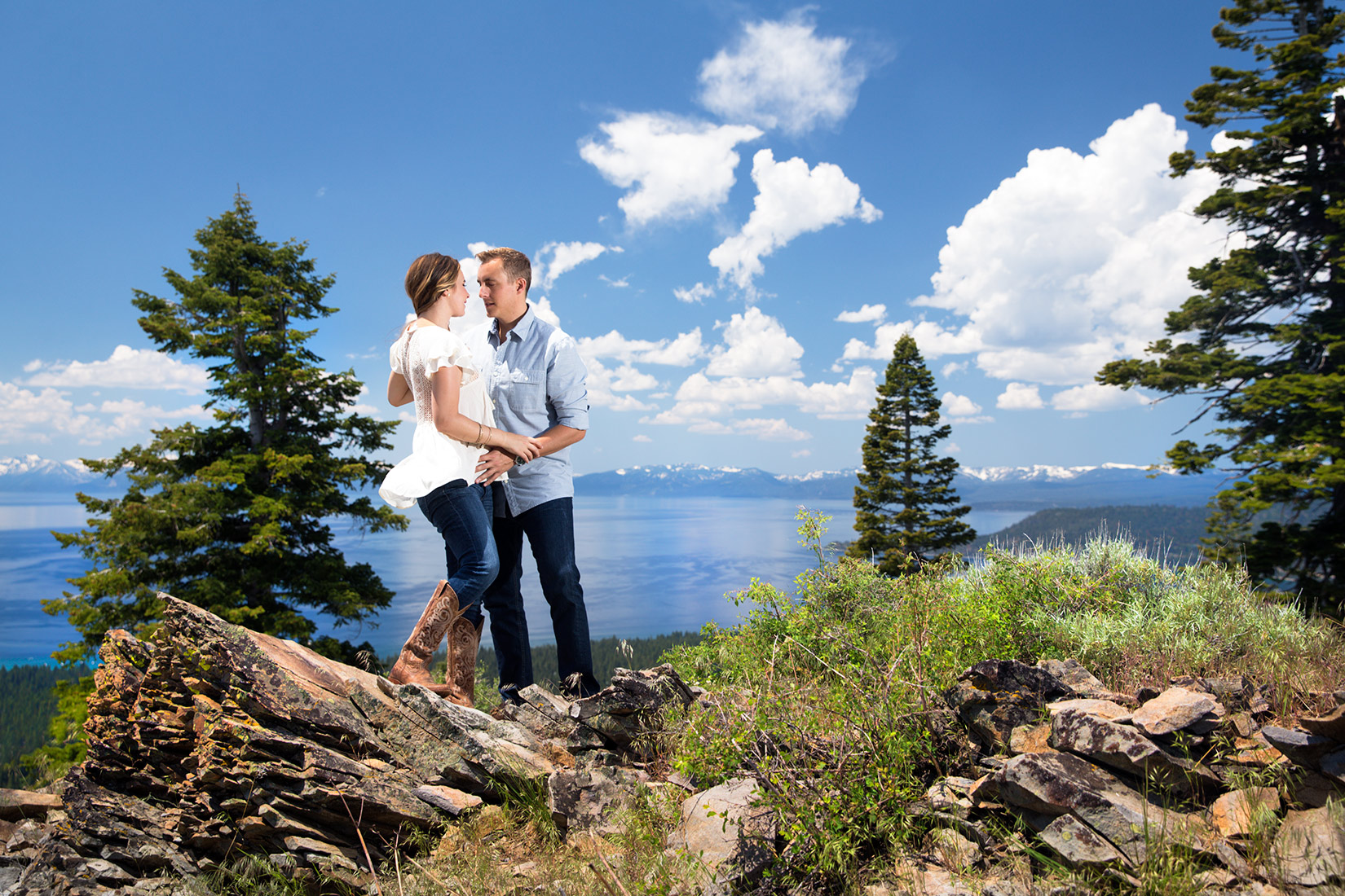 above-Tahoe-engagement-photo