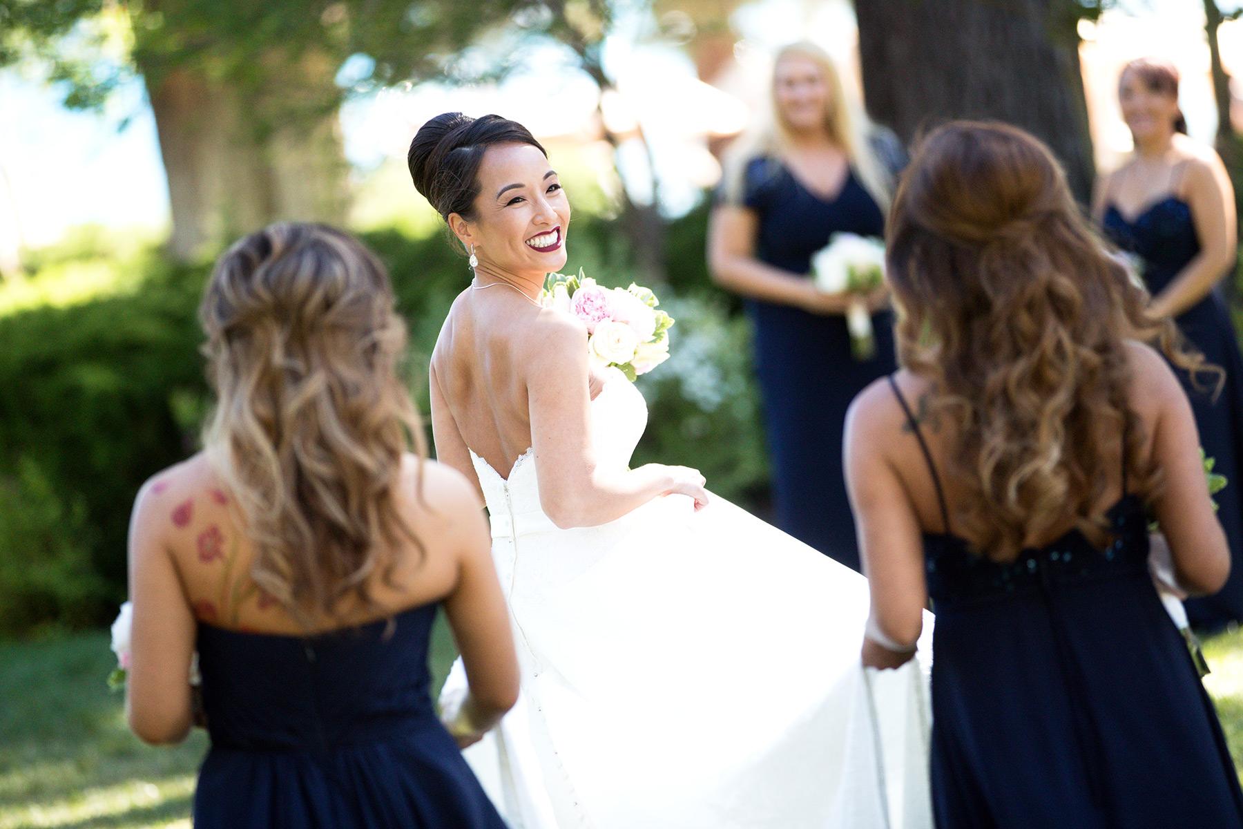 bride-and-sisters-Tahoe-wedding-Hyatt