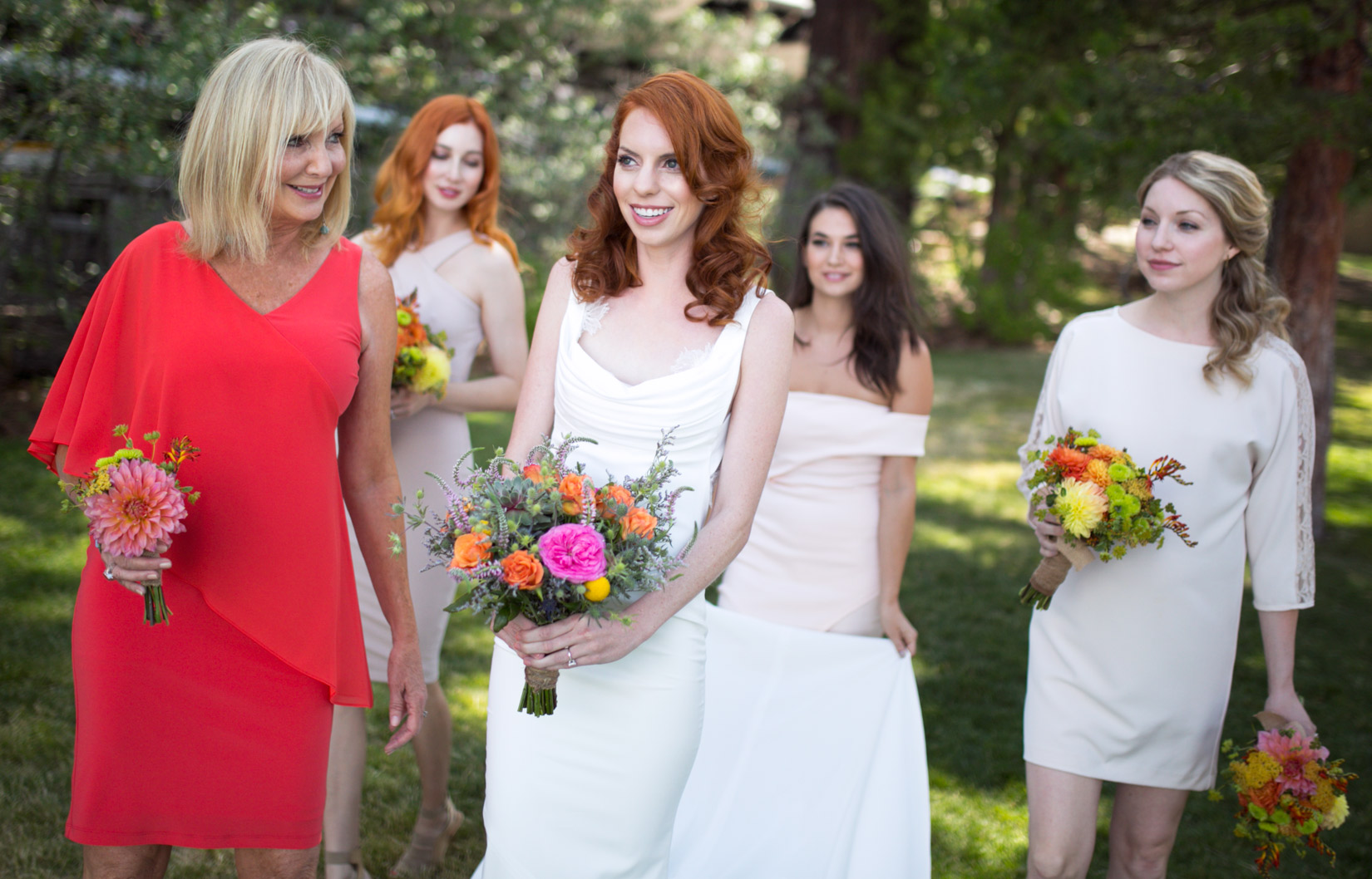 bride-with-mother-and-bridesmaids