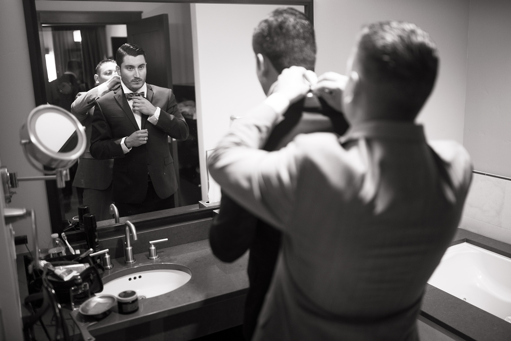 groom-getting-ready-Ritz-Tahoe
