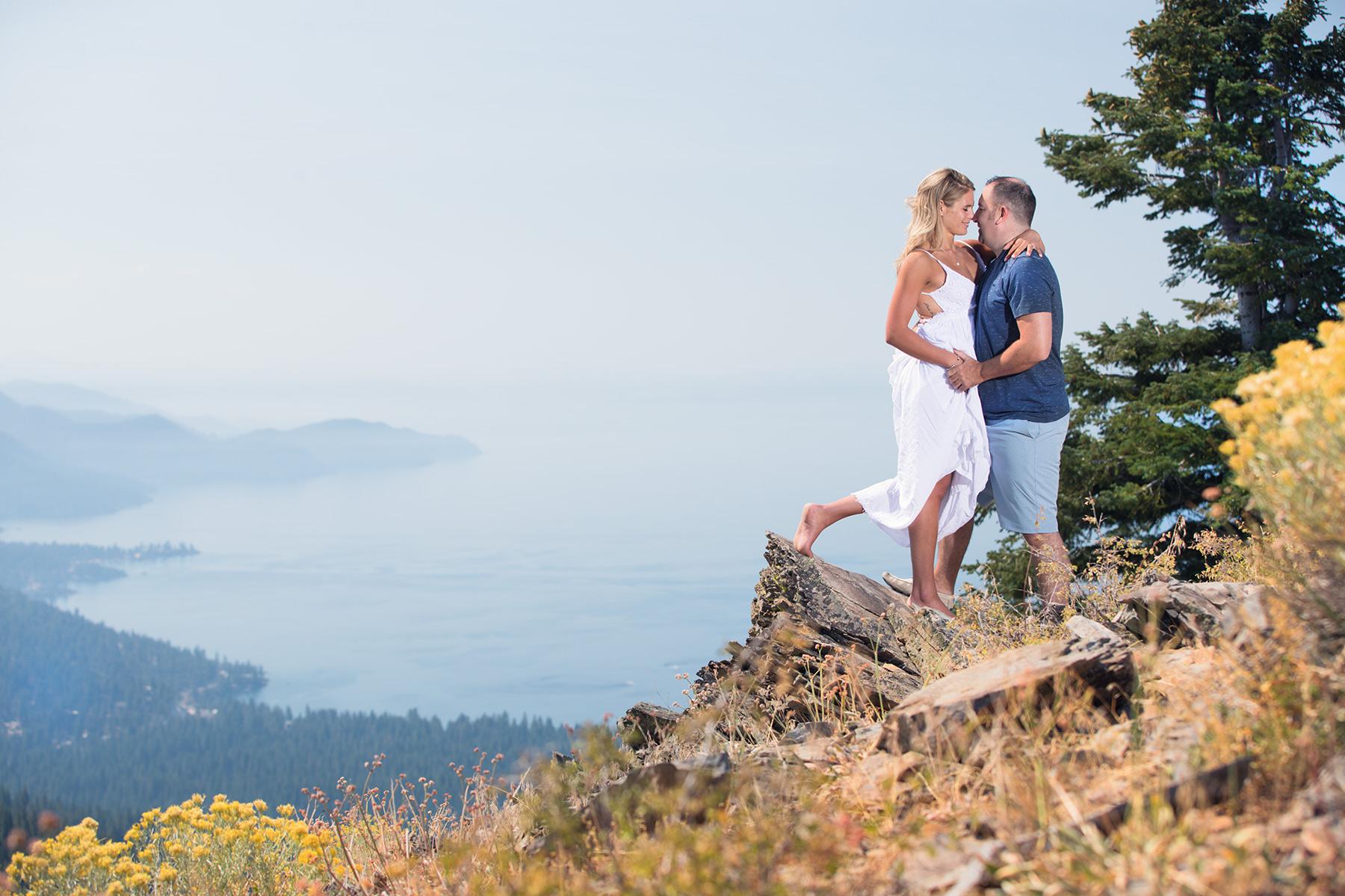 scenic-Tahoe-engagement-photo