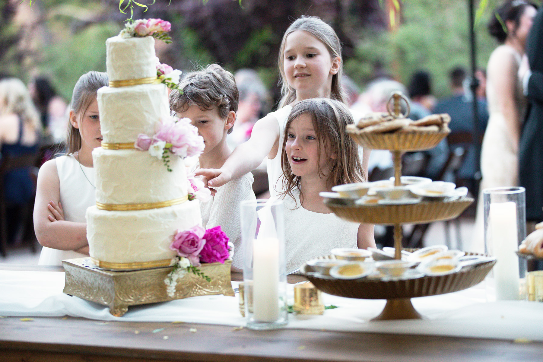 wedding-cake-and-flower-girls