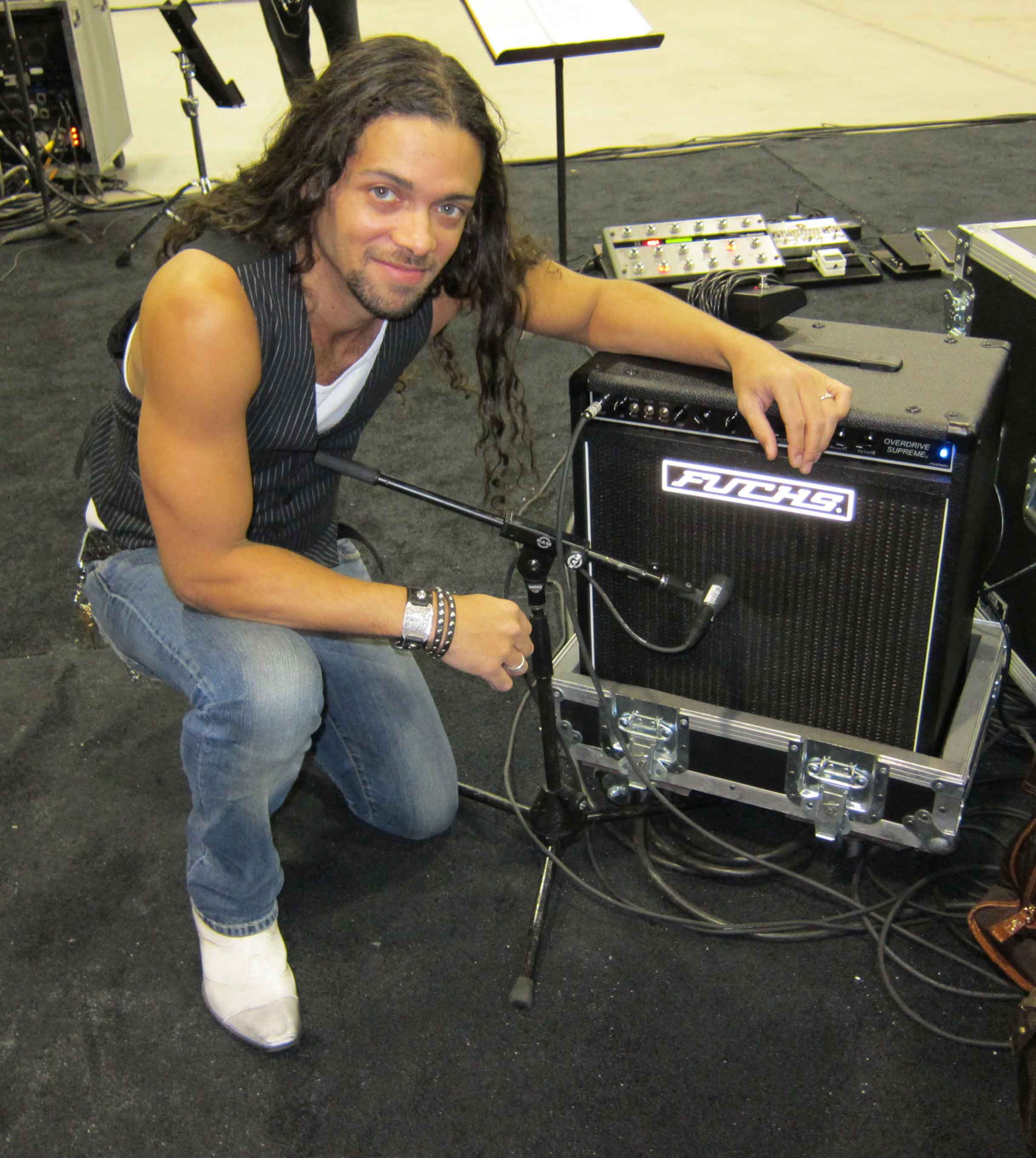 With one of my Fuchs Overdrive Supreme Amplifiers.