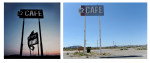 On our trip home to CA we stopped in Yermo where one of Warren's photographs was taken. The Victory sign no longer exists.