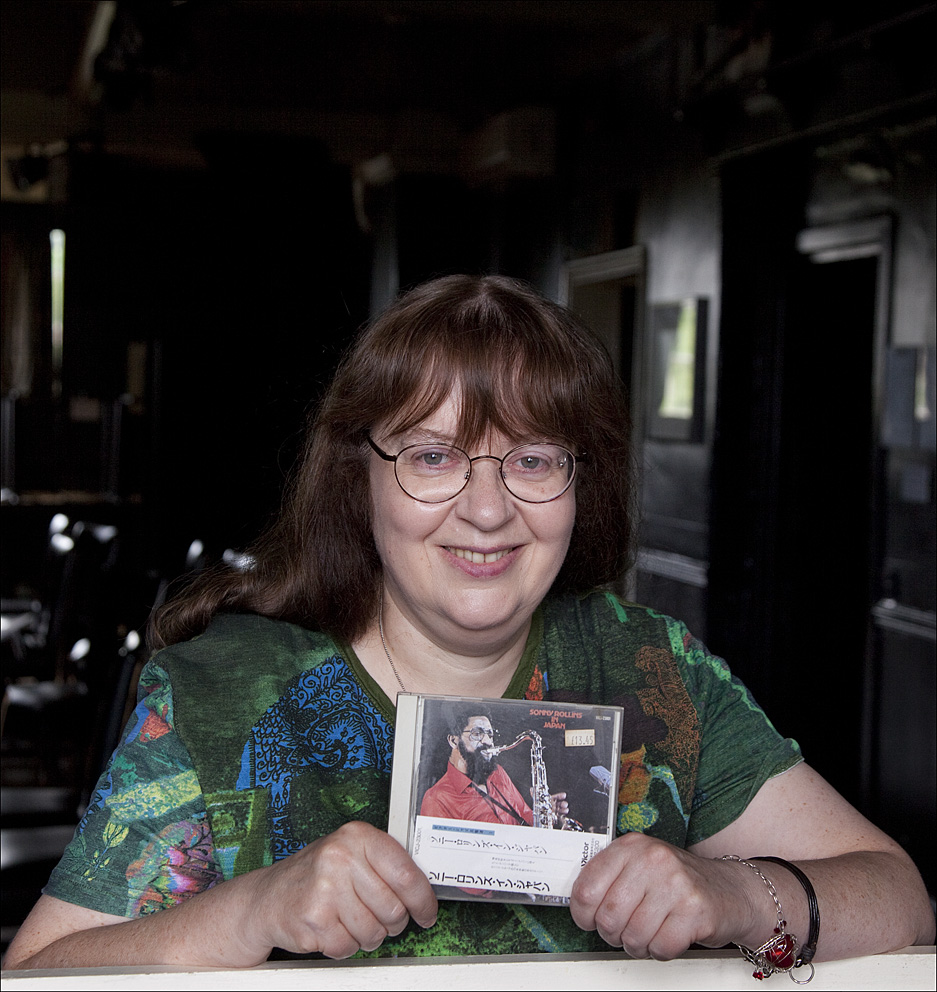 """""""The one I've chosen is Sonny Rollins in Japan. I'm a big Sonny Rollins fan but this particular album was the one that kind of opened the door for me into modern jazz.I was at college as a first year student at Leeds and I knew bit about older styles of jazz because my dad had introduced me to Coleman Hawkins and Ben Webster, but I was finding it hard to get my head round more modern styles.So I was sitting in the college library listening to various great jazz players and then I put on this Sonny Rollins album and it was kind of like a window opening and the sun coming in and I just got it then.Some players you find you admire them for the technical ability and you can see what they're doing and they're astounding technicians. And some people speak directly to you and I've always found Sonny Rollins to be that player for me so I'm very happy to pick one of his albums for the project.""""Alison Diamond: The Cinnamon Club, Bowdon, 25th June 2015Sonny Rollins: Sonny Rollins in Japan released 1973Alison Diamond"""