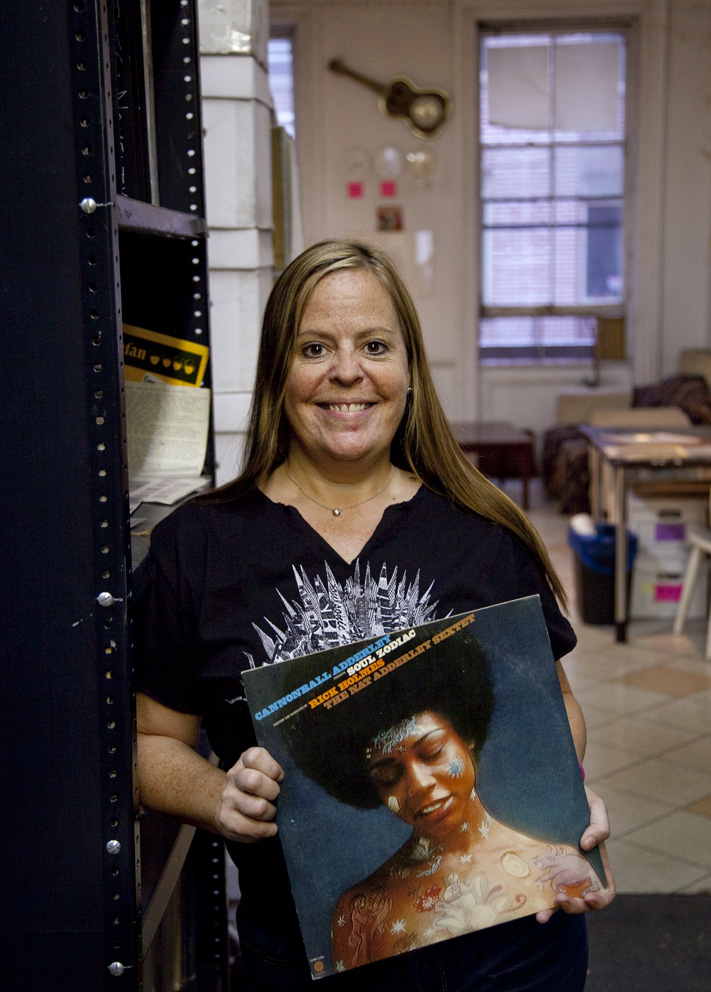 """What I love about the record I've selected; which is Cannonball Adderley presents Soul Zodiac written and narrated by Rick Holmes with the Nat Adderley sextet playing as well – a lot of Adderleys!What I really love about this, having a radio show on WBAI and having been a community radio person for so long – since the 80's even though I might look like I'm only 21!!988 I started out with WBAI. Rick Holmes did a radio show where he would invite jazz musicians when they were touring down the coast of California - he was based in Southern California.  He would always drop Zodiac knowledge about each of their astrological signs. It would be part of, not only the interview, but also the conversation – always.   So Cannonball Adderley invited him to be that voice and actually create the lyric, so to speak, or spoken vocals for each of the zodiac signs aslong with an introduction, which is really lovely.Some of them - which I don't quite understand why, lets say Aquarius took almost 8 minutes in composition – versus Leo, which is only 2.51 seconds.  That's the range.  Or 2.45 on Cancer, me – Capricorn - he gave a lovely 6 minutes on that one.  I've always had the dream to reach out to Capitol Records and find the original tape and redo in a remix package this project.  Every time I play one of these selections, which I try to play usually every cycle with the zodiac as it changes monthly on my show and in rotation on Clocktower, I always get emails or responses like 'what is that from' or 'where did that come from'?So, even though some may not be as Earth Cookie, or hippy or whatever you want to call it on the zodiac side, regardless you can catch peoples attention.  Especially what I love is when an artist interprets in a composition the energy of the words in their own way.  Like 'Capricorn' and he gets into this whole riff.  One of the things I'm still a little confused about for Capricorn was he goes 'they're so tight with money they could steal from themselves' - or something like that.  It's a great record - that's my story.""Jeannie Hopper: ARChive of Contemporary Music, New York, 18th September 2014Cannonball Adderley: Soul Zodiac released 1972Jeannie Hopper"