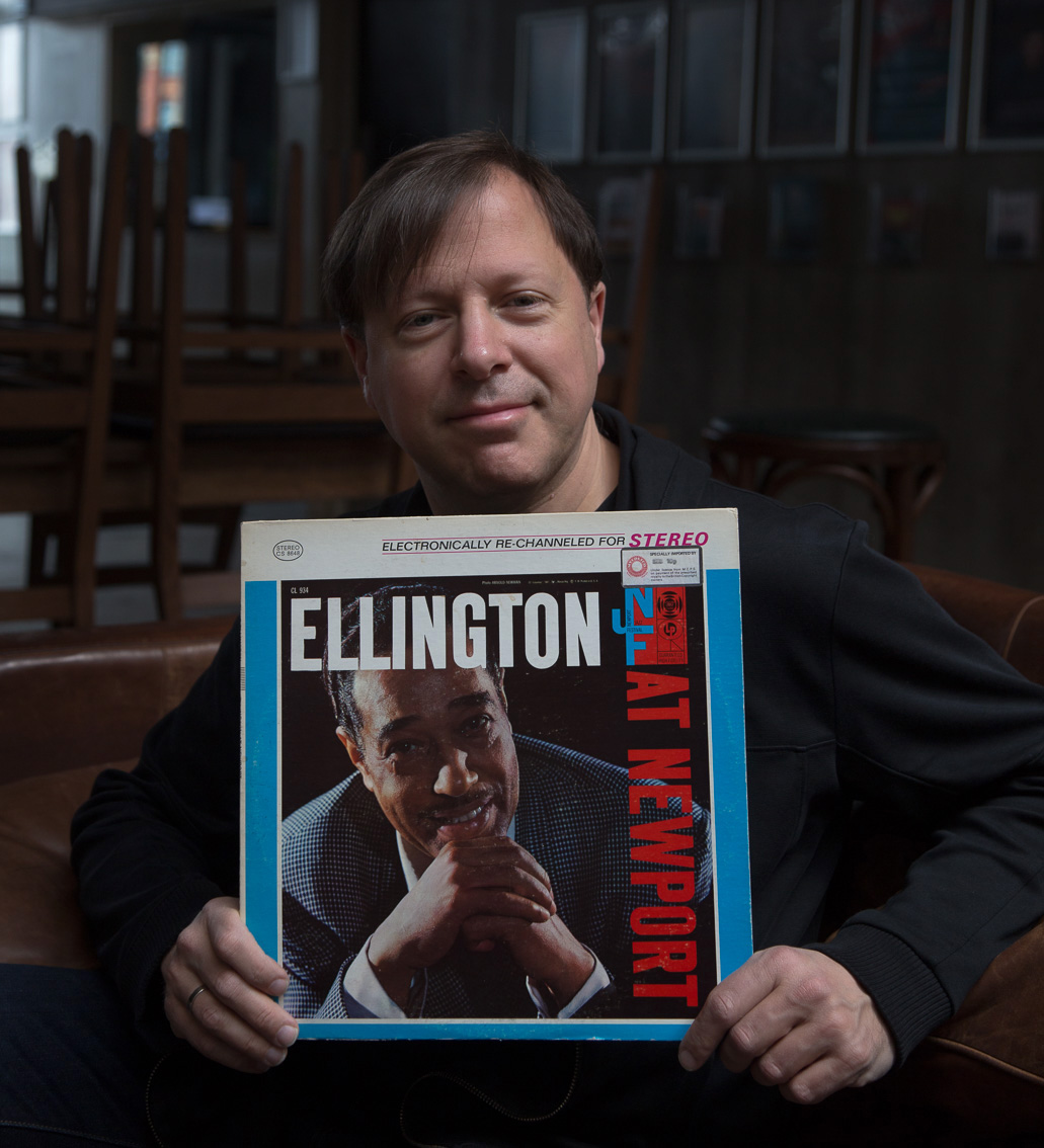 """""""I choose 'Ellington at Newport' - I wish I remember how old I was when I first got it - probably 11 or 12. I'm sure I can't count the number of times that I've listened to it . It has the famous solo by Paul Gonsalves - 27 choruses on the blues on a piece called 'Diminuendo and Crescendo in Blue'And you can hear the people really start to go nuts and by the end of it, it sounds like there's a riot and you can feel why because the energy is just relentless.But it was my kind of introduction really to Paul Gonsalves' playing who I've always really really love and there's also an amazing performance of 'Jeeps Blues' which features Johnny Hodges - Jeep who was always one of my favourites.For me it's just one of those really special records that was extremely important to me at a very early time in my study of the horn and familiarity with this music - so I know every note, and I love every note.""""Chris Potter: Band on the Wall, Manchester, 15th April 2017Duke Ellington: Ellington at Newport 1956   released 1956Chris Potter"""