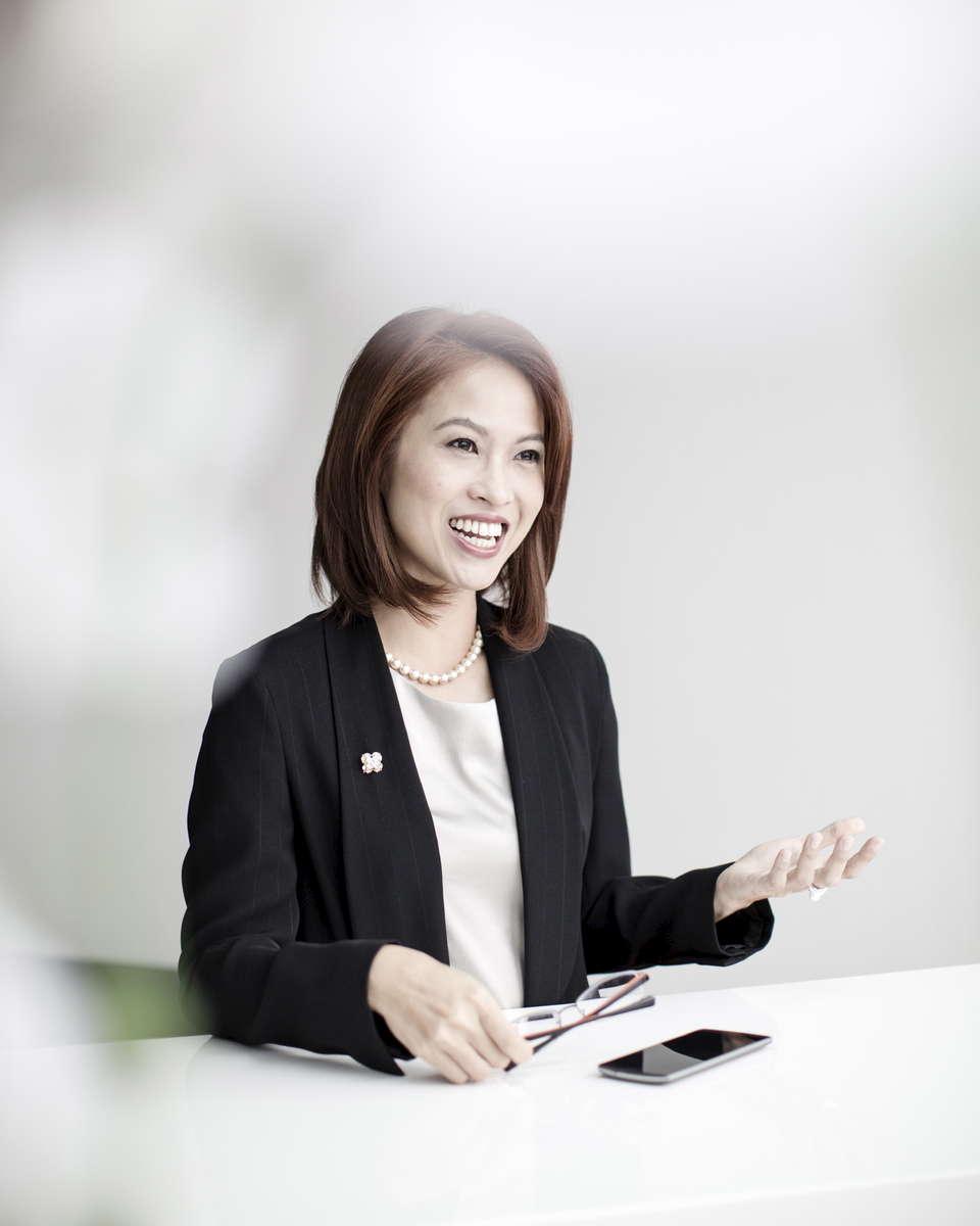 Monica Pranata in her office in jakarta Wirecard Headquarter, 14 March 2015