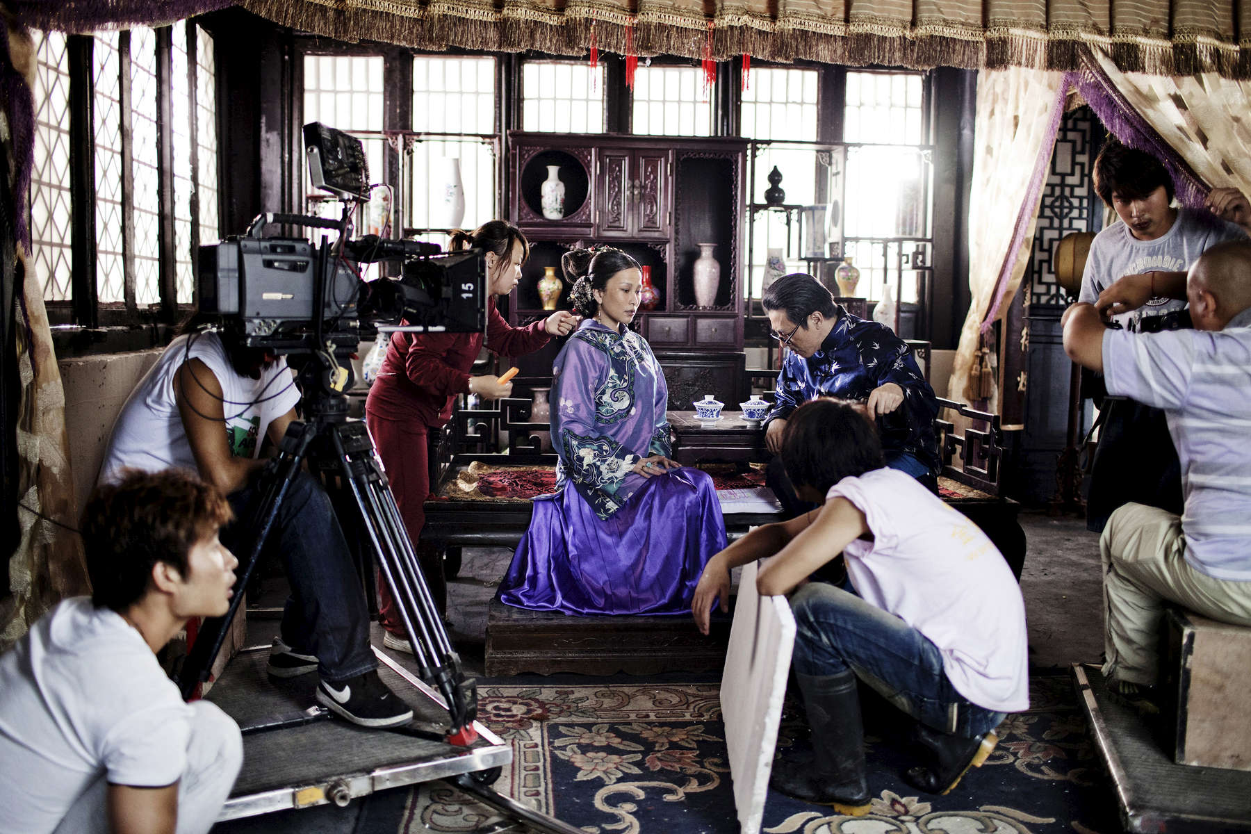 Hengdian World Studios,The film studio is the world\'s largest and features a 1:1 scale reproduction of the Forbidden City in Beijing, During the shooting of a Tv serial showing the old chinese empire