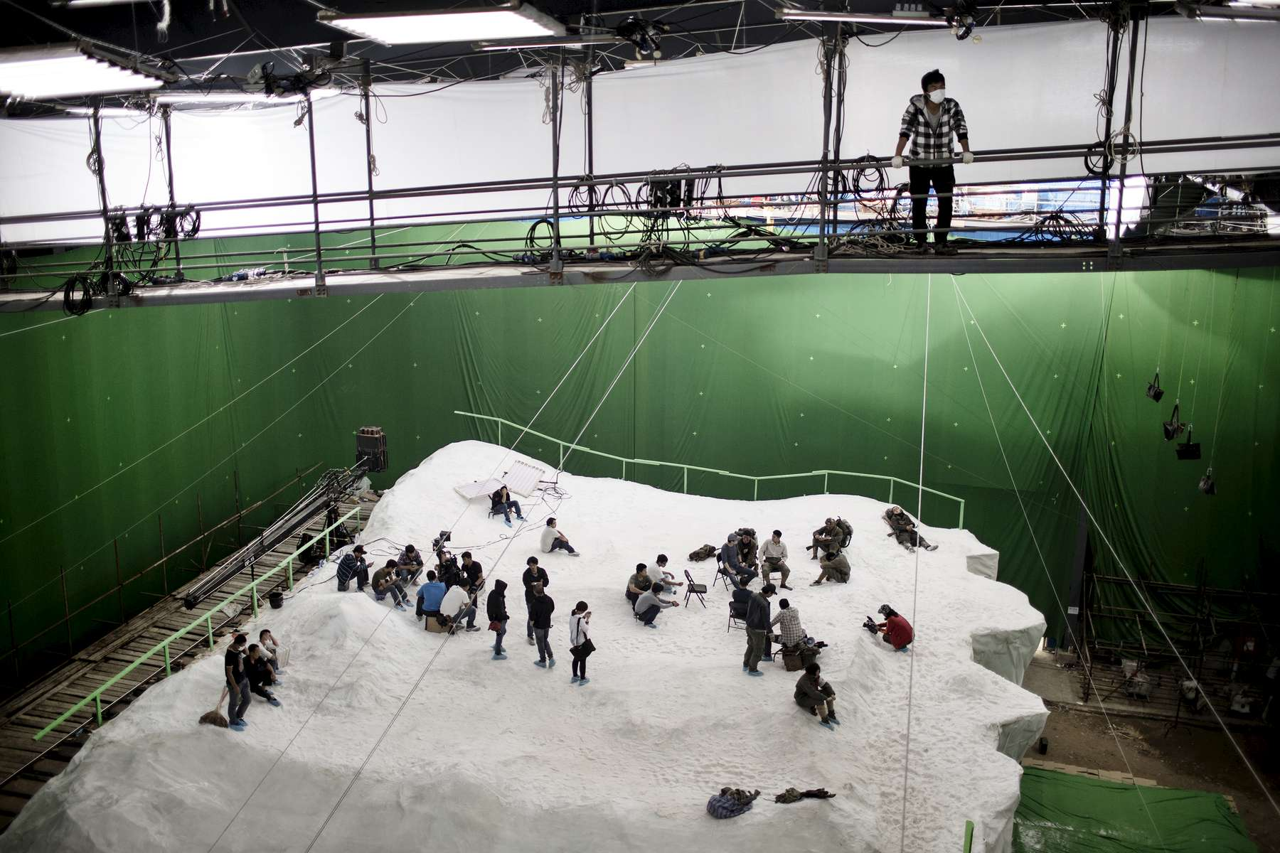 Movie set of the Lu Chuan new movie which is one of the biggest co-production movie in China this year, September 2014