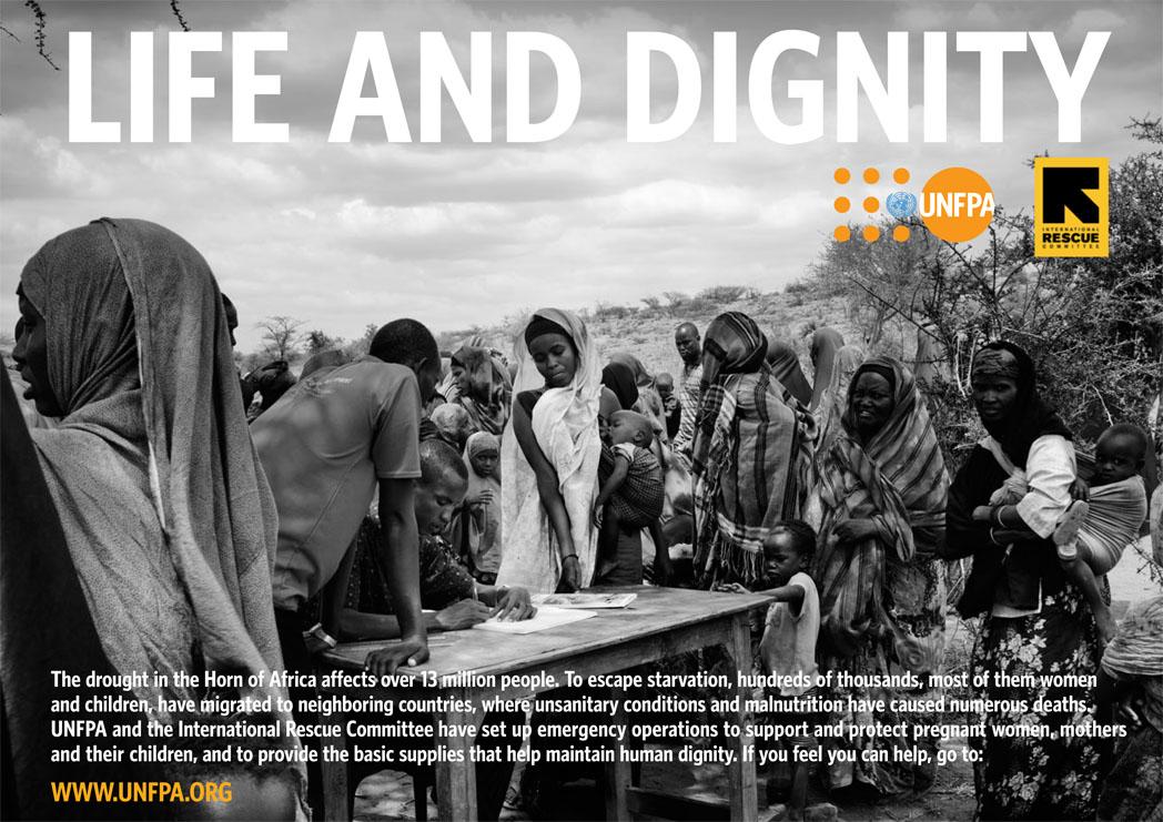 Somalia Famine for UNFPA campaign