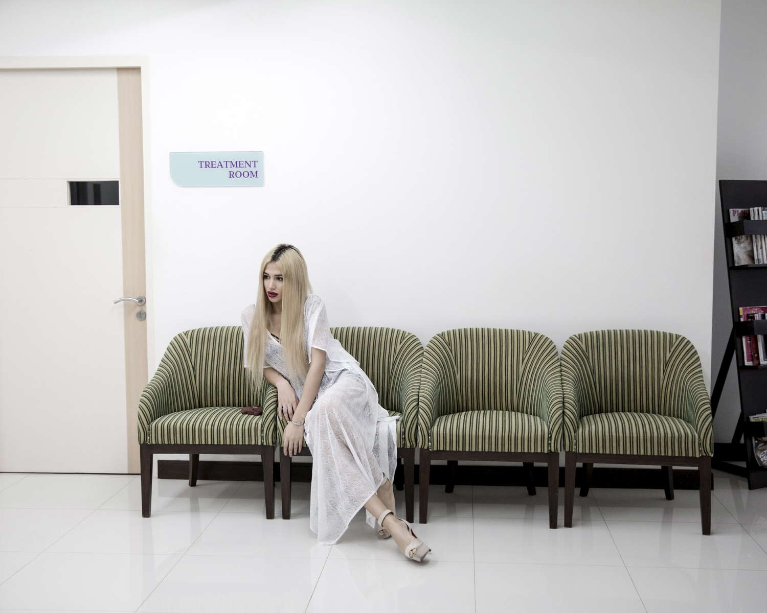 A russian patient of sex reassignment at Kamol Hospital on February 16th 2016 in Bangkok, Thailand. 22 year old Agnes Landau had her sex reassignment surgery at Kamol Hospital on January 20th. She comes from the muslim south of Moscow, Russia. Her mother is from the middle east and father from Russia. Agnes works as a proffesional model in Milan. This surgery fully completes her transition to a woman. © Giulio Di Sturco