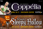 Outdoor advertising billboards for Central Pennslyvania Youth Ballet (2016):  Coppélia and The Legend of Sleepy Hollow.