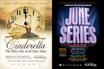 Advertising posters for Central Pennsylvania Youth Ballet's production of Cinderella (2015) and its four-day program June Series (2017).