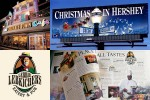 Retail signage, outdoor advertising, a restaurant identity and an informative brochure for visitors planning a trip to Hershey, PA.