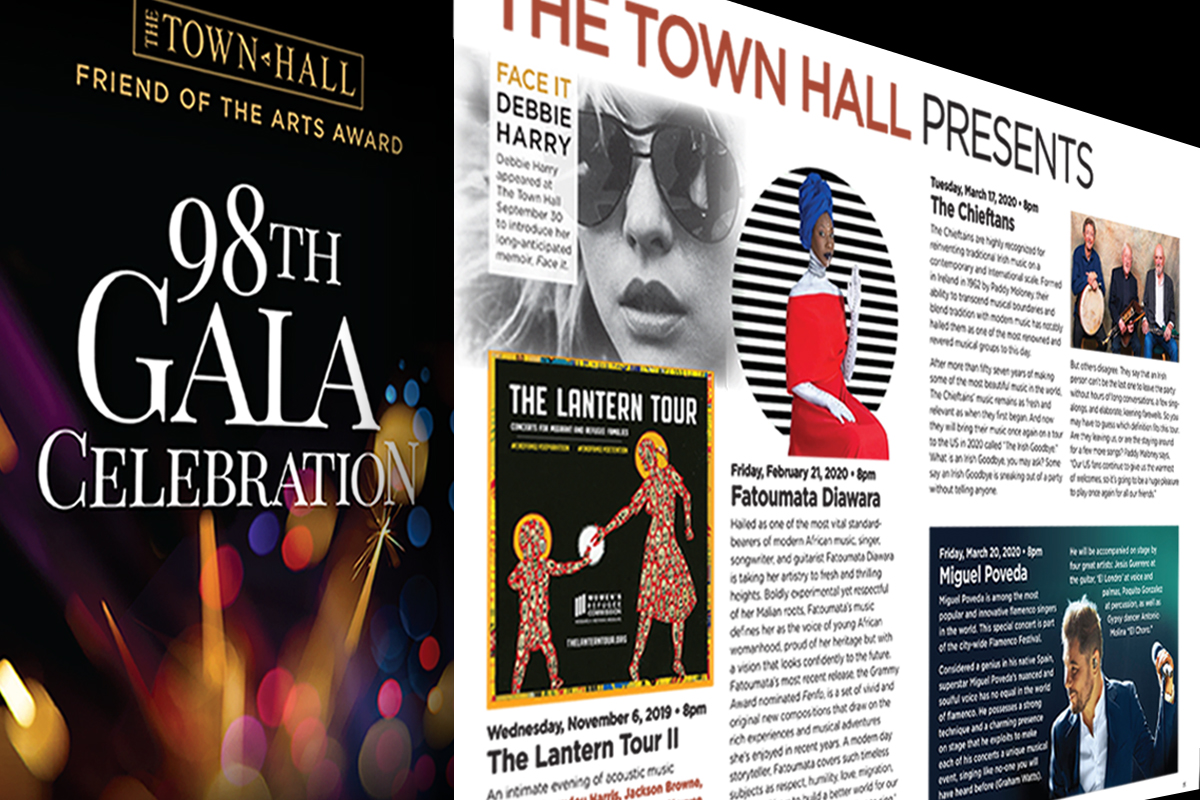 The Town Hall annual gala honors individuals who have distinguished themselves artistically or in their support of the arts.