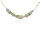 22 karat gold, aquamarine