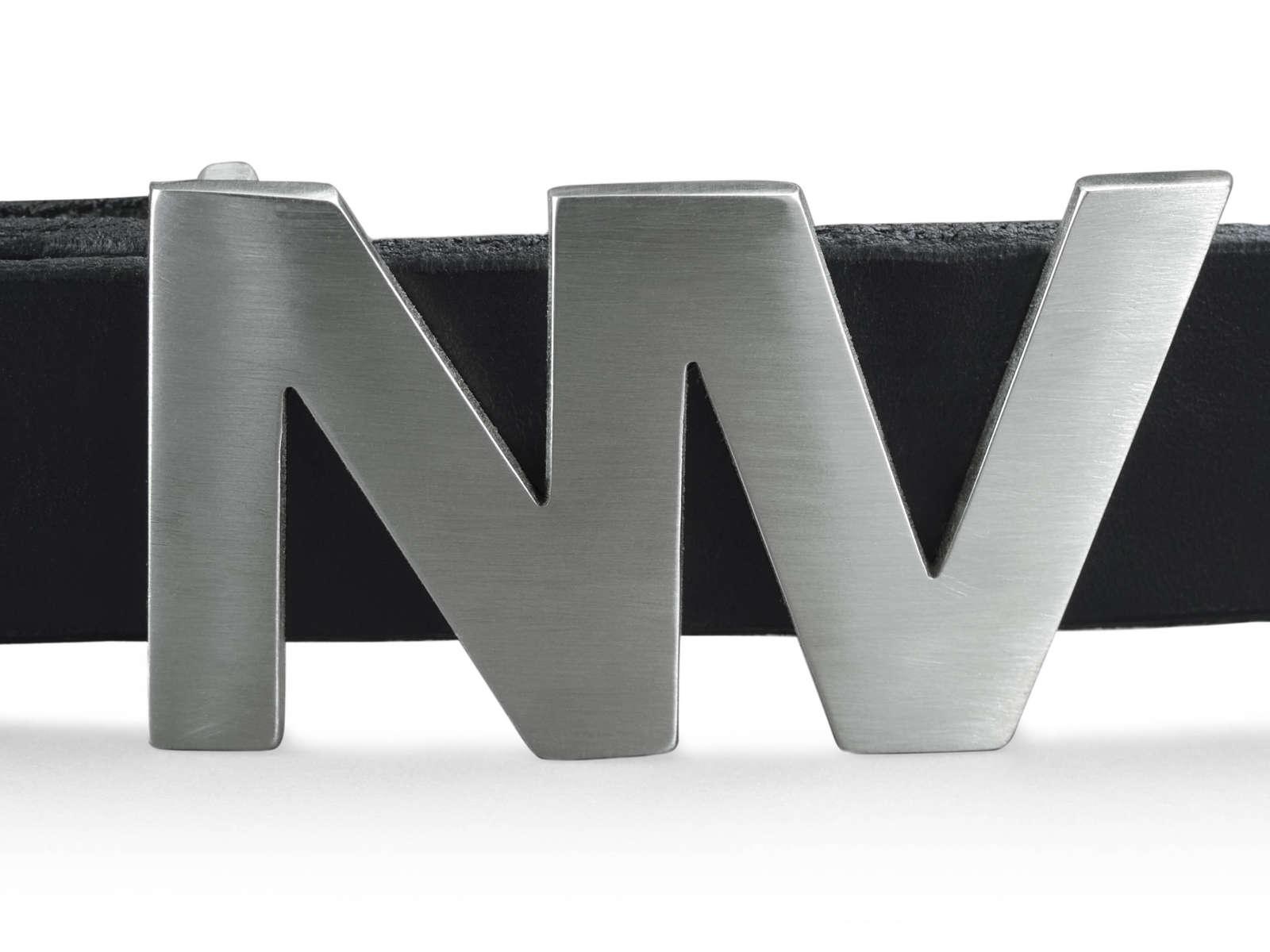 Natan Buckle in Platinum Silver