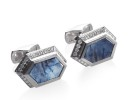 Sapphire slice, diamond and platinum.2010 AGTA Spectrum award first place, Men's category