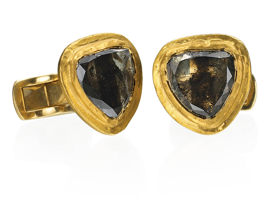 22 karat gold, opaque diamonds