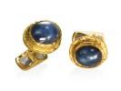 22 karat gold, sapphire