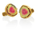 22 karat gold, tourmaline slices.2009 AGTA Spectrum awards third place, Men's category
