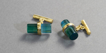 22 karat gold and brazilian bicolor tourmaline