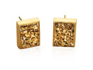 Gold druzy rectangles