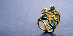 Green tourmaline and 22 karat gold ring
