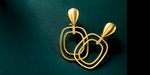 JANET dangles in 22 karat gold and diamonds