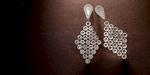 Rose cut diamonds and platinum