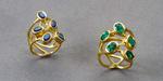 Green tourmaline or sapphires and 22 karat gold