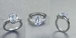MELISSA ring in platinum and diamonds