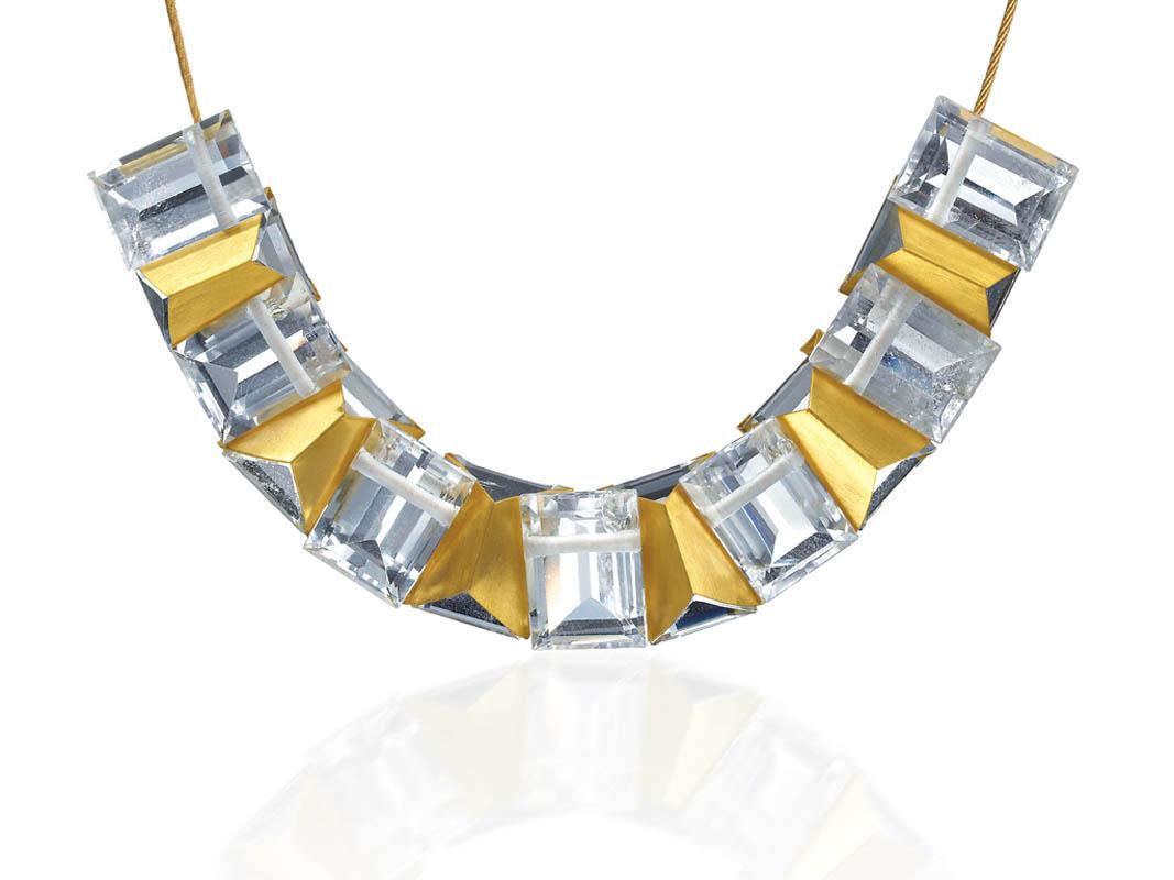 22 karat gold-clad quartz