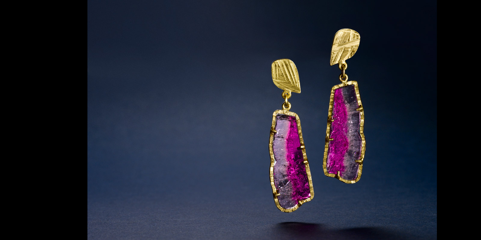 Bicolor tourmaline and 22 karat gold