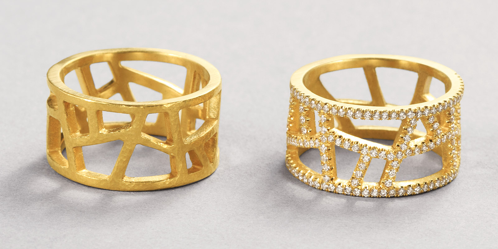 Rachel bands. 22 karat gold and diamonds.