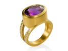 22 karat gold diamonds. Uruguay Amethyst.