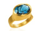 22 karat gold and Topaz