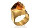 22 karat gold and Citrine trillium