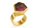 22 karat gold and tourmaline
