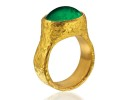 22 karat gold and emerald