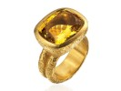 22 karat gold and yellow beryl