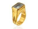22 karat gold and Rutilated quartz