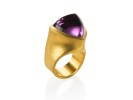 22 karat gold and amethyst trillium